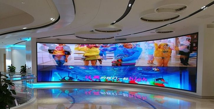 p2.976 curve led display walls
