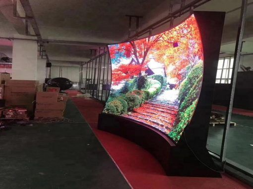 soft led display curve led