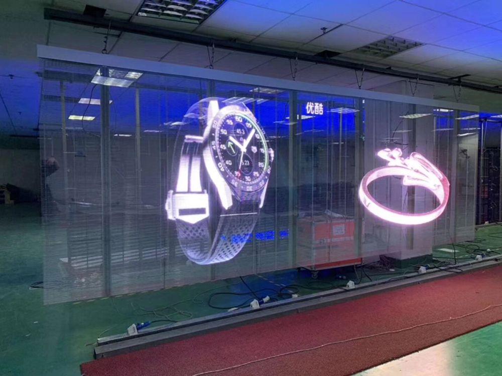 glass led wall
